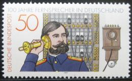 Poštovní známka Nìmecko 1977 Století telefonu Mi# 947