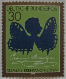 Poštovní známka Nìmecko 1978 Clemens Brentano, básník Mi# 978