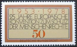 Poštovní známka Nìmecko 1978 Úmluva o lidských právech Mi# 979