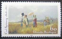 Poštovní známka Nìmecko 1985 Nedìlní procházka, Carl Spitzweg Mi# 1258