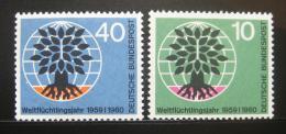 Poštovní známky Nìmecko 1960 Svìtový rok uprchlíkù Mi# 326-27