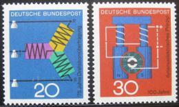Poštovní známky Nìmecko 1966 Vìdecký pokrok Mi# 521-22