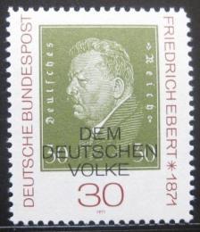 Poštovní známka Nìmecko 1971 Prezident Friedrich Ebert Mi# 659