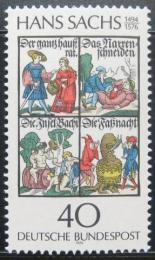 Poštovní známka Nìmecko 1976 Knihy, Hans Sachs Mi# 877
