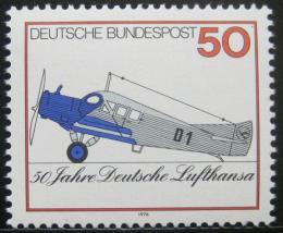 Poštovní známka Nìmecko 1976 Lufthansa, 50. výroèí Mi# 878