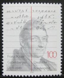 Poštovní známka Nìmecko 1989 Franz Gabelsberger Mi# 1423