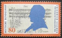Poštovní známka Nìmecko 1989 Friedrich Silcher, skladatel Mi# 1425