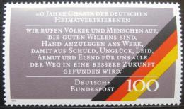 Poštovní známka Nìmecko 1990 Listina nìmeckých vyhnancù Mi# 1470