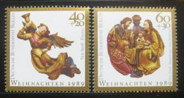 Poštovní známky Západní Berlín 1989 Vánoce Mi# 858-59 Kat 4€