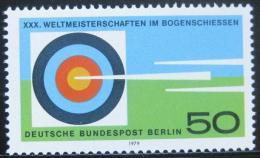 Poštovní známka Západní Berlín 1979 MS v lukostøelbì Mi# 599