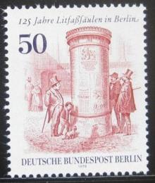 Poštovní známka Západní Berlín 1979 Reklamní sloup Mi# 612