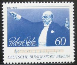 Poštovní známka Západní Berlín 1980 Robert Stolz, skladatel Mi# 627