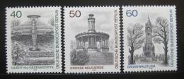 Poštovní známky Západní Berlín 1980 Památníky Mi# 634-36