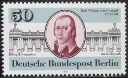 Poštovní známka Západní Berlín 1981 Karl Gontard, architekt Mi# 639