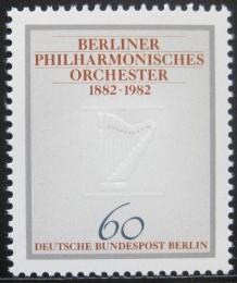 Poštovní známka Západní Berlín 1982 Berlínská filharmonie Mi# 666
