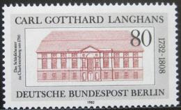 Poštovní známka Západní Berlín 1982 Státní divadlo Mi# 684
