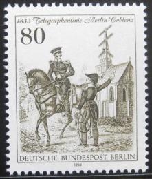 Poštovní známka Západní Berlín 1983 Telegrafní služby Mi# 693