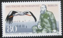 Poštovní známka Západní Berlín 1984 Alfred Brehm, zoolog Mi# 722