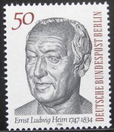 Poštovní známka Západní Berlín 1984 Ernst L. Heim, botanik Mi# 723