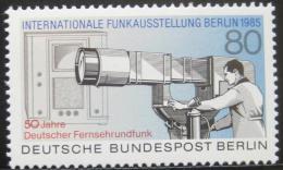 Poštovní známka Západní Berlín 1985 Nìmecká televize Mi# 741