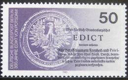Poštovní známka Západní Berlín 1985 Postupimský edikt Mi# 743