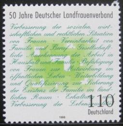 Poštovní známka Nìmecko 1998 Vesnická asociace žen Mi# 1988