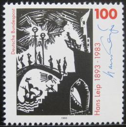 Poštovní známka Nìmecko 1993 Umìní, Hans Leip Mi# 1694