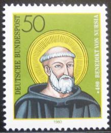 Poštovní známka Nìmecko 1980 Svatý Benedikt z Nursie Mi# 1055
