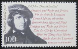 Poštovní známka Nìmecko 1991 August von Fallersleben, básník Mi# 1555
