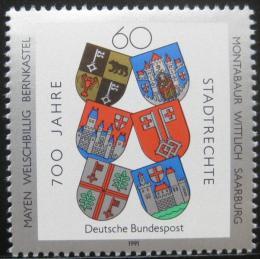 Poštovní známka Nìmecko 1991 Mìstské erby Mi# 1528