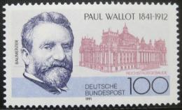 Poštovní známka Nìmecko 1991 Paul Wallot, architekt Mi# 1536