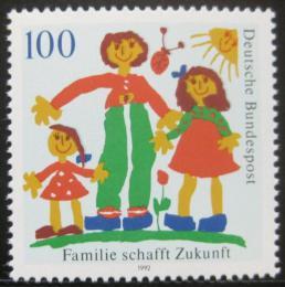 Poštovní známka Nìmecko 1992 Rodinný život Mi# 1621