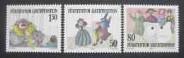 Poštovní známky Lichtenštejnsko 1985 Divadlo Mi# 887-89