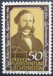 Poštovní známka Lichtenštejnsko 1986 Karl F. Haus Mi# 902