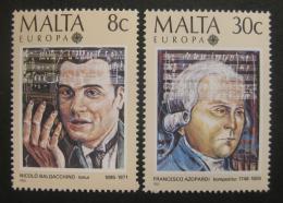 Poštovní známky Malta 1985 Evropa CEPT, skladatelé Mi# 726-27