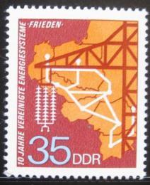Poštovní známka DDR 1973 Elektrický systém Mír Mi# 1871