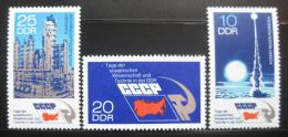 Poštovní známky DDR 1973 Sovìtská vìda a technologie Mi# 1887-89