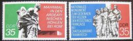 Poštovní známky DDR 1974 Váleèné memoriály Mi# 1981-82