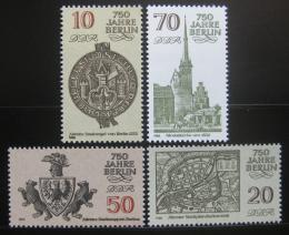 Poštovní známky DDR 1986 Berlín, 750. výroèí Mi# 3023-26