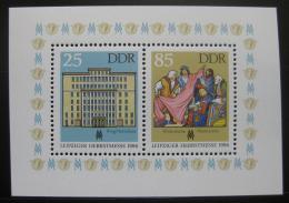 Poštovní známky DDR 1986 Veletrh v Lipsku Mi# Block 85
