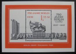 Poštovní známka DDR 1987 Thalmannùv memoriál Mi# 3105 Mi# Block 89