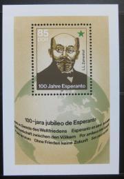 Poštovní známka DDR 1987 Esperanto, 100. výroèí Mi# Block 87