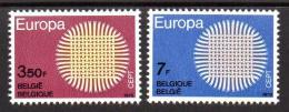 Poštovní známky Belgie 1970 Evropa CEPT Mi# 1587-88