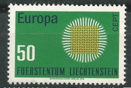 Poštovní známka Lichtenštejnsko 1970 Evropa CEPT Mi# 525