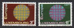 Poštovní známky Lucembursko 1970 Evropa CEPT Mi# 807-08