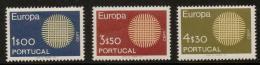 Poštovní známky Portugalsko 1970 Evropa CEPT Mi# 1092-94 Kat 30€