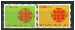 Poštovní známky San Marino 1970 Evropa CEPT Mi# 955-56