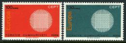 Poštovní známky Turecko 1970 Evropa CEPT Mi# 2179-80