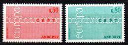 Poštovní známky Andorra Fr. 1971 Evropa CEPT Mi# 232-33 Kat 20€