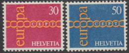 Poštovní známky Švýcarsko 1971 Evropa CEPT Mi# 947-48